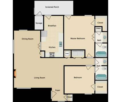 2 Beds - Jefferson Place at 7975 N Jefferson Place Cir in Baton Rouge LA is a Apartment