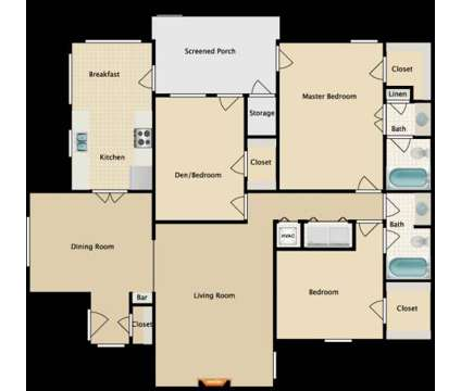 3 Beds - Jefferson Place at 7975 N Jefferson Place Cir in Baton Rouge LA is a Apartment