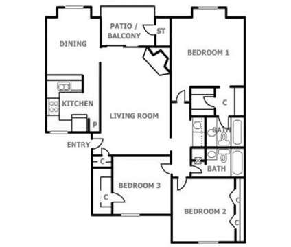 3 Beds - Arrowhead Pointe at 12021 Skyline Road Ne in Albuquerque NM is a Apartment