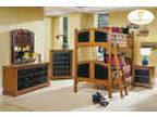 Cherry Black Finish Bunk Bed 5 Pc Set 10 Off Sale