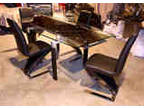 New Extension Glass Dining Table And 4 Chairs 50 Off