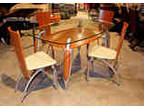 New Tempered Glass Top Table And Four Chairs 500 Off