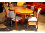 New 50 Off Seven Piece Eclectic Oval Dining Table And Chairs
