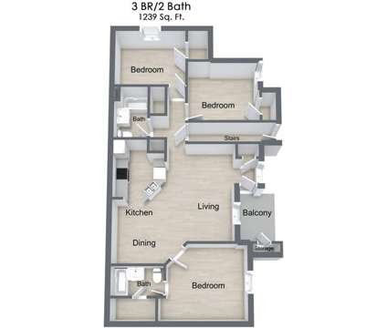 3 Beds - The Gables of Maumelle at 1500 Union Ct in Maumelle AR is a Apartment