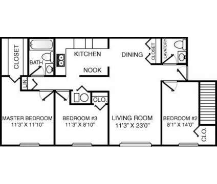 3 Beds - Eastpointe on the Mall at 3617 Lakepointe Drive in Northwood OH is a Apartment