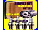 Audi A3 1.6 Oil Filter Air Filter Fuel Filter Spark Plugs Service Kit