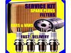 Renault Laguna 2.0 Oil Filter Air Filter Fuel Filter Spark Plugs Service Kit