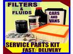 Renault Laguna 1.6 Service Parts Filters and Fluids 1997 to 2001