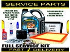 Audi A2 1.6 FSi 1.6FSi Engine Oil Spark Plugs Filters Fluids Service Parts Kit