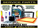 Audi A2 1.4 Engine Oil Spark Plugs Filters Fluids Service Parts Kit 2000-2005