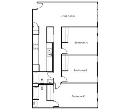 3 Beds - Campustown at 200 Stanton Avenue #101 in Ames IA is a Apartment
