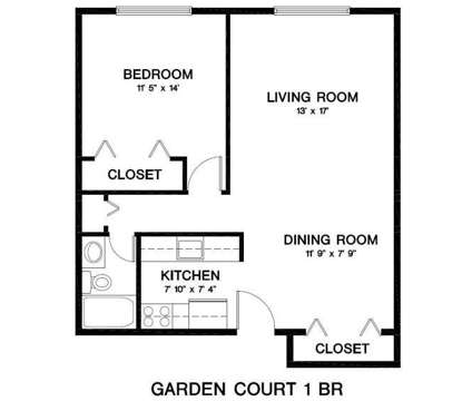 1 Bed - Garden Court Apartments at 195 West Kennett Rd Apartment #212 in Pontiac MI is a Apartment