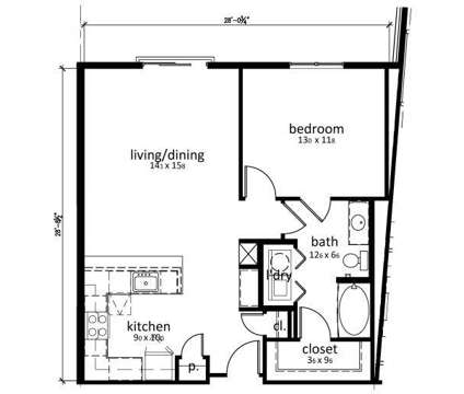 1 Bed - The Olivia on Main at 1111 West Main St in Carmel IN is a Apartment