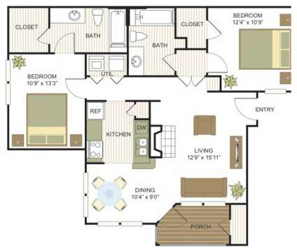 2 Beds - Villas at Bandera at 9830 Camino Villa in San Antonio TX is a Apartment