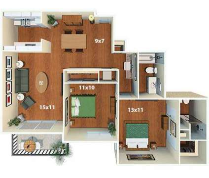 2 Beds - Villas of Pasadena Apartment Homes at 300 East Bellevue Dr in Pasadena CA is a Apartment