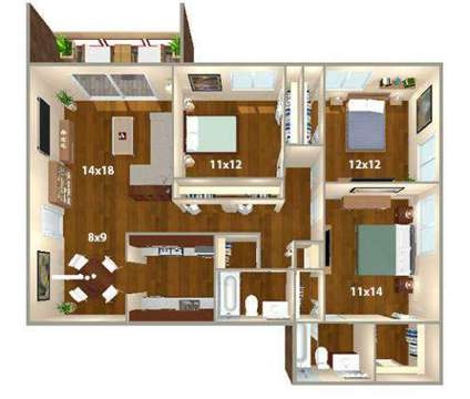 3 Beds - Lakeside Apartments at 4800 Lake Trail Drive in Lisle IL is a Apartment