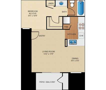Studio - Birchwood Village Apartment Homes at 1717 E Birch St in Brea CA is a Apartment
