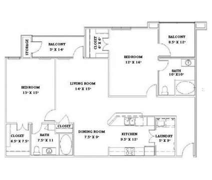2 Beds - Jamestown Place at 5400 Barksdale Boulevard in Bossier City LA is a Apartment