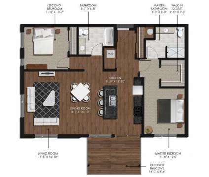 2 Beds - Forge and Flare Apartments at 7969 S Main St in Oak Creek WI is a Apartment