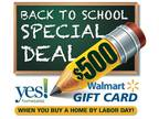 Three BR - $500 Wal-Mart Gift Card With Home Purchase! Stop Renting Start Owning