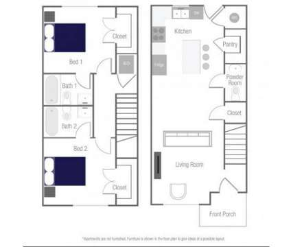 2 Beds - The Win Townhomes at 6159 Winthrop Avenue in Indianapolis IN is a Apartment