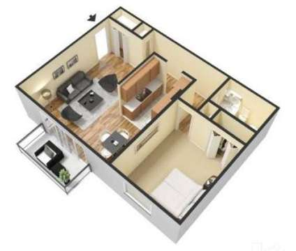 1 Bed - Carriage Park Apartments at 27201 West Canfield St in Dearborn Heights MI is a Apartment