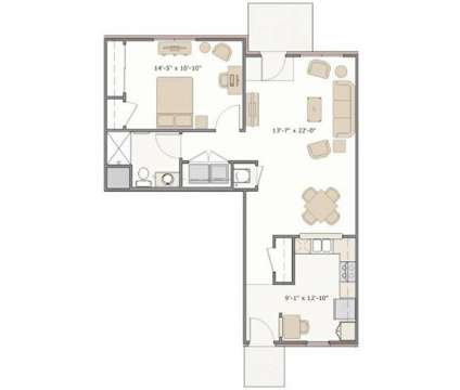 1 Bed - Reflections at Bluestone at 346 N Blue Rd in Greenfield IN is a Apartment