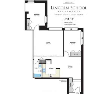2 Beds - Lincoln School Apts at 1730 S 11th St in Omaha NE is a Apartment