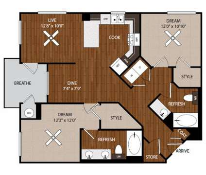 2 Beds - Jefferson Platinum Triangle - BRAND NEW at 1781 South Camptom Ave in Anaheim CA is a Apartment
