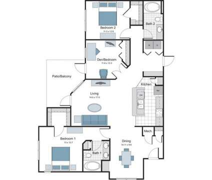 3 Beds - The Lodge at Crossroads at 200 Brisbane Woods Way in Cary NC is a Apartment
