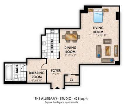 Studio - The Marylander at 3501 St Paul St in Baltimore MD is a Apartment
