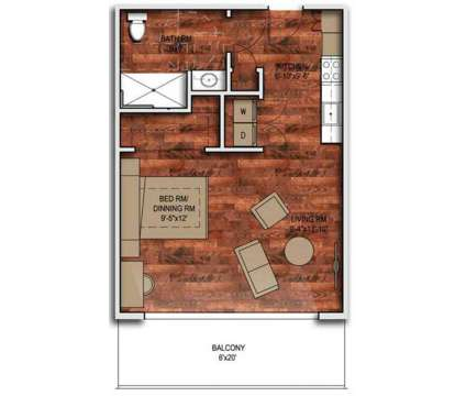 Studio - Rhythm at 1640 N Water St in Milwaukee WI is a Apartment