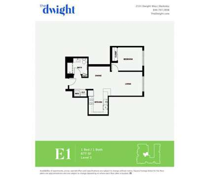 1 Bed - The Dwight at 2121 Dwight Way in Berkeley CA is a Apartment