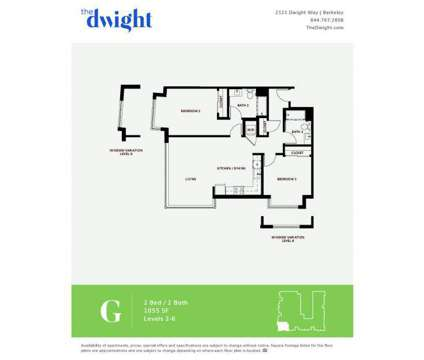 2 Beds - The Dwight at 2121 Dwight Way in Berkeley CA is a Apartment