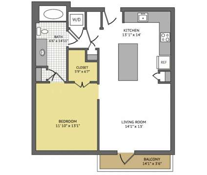 1 Bed - Yale @ 6th at 655 Yale St in Houston TX is a Apartment
