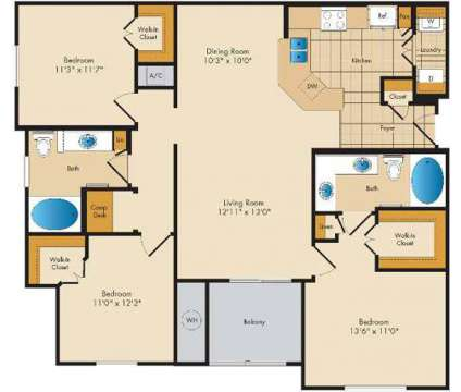 3 Beds - The Lodge at Seven Oaks at 2027 Odens Station Ln in Odenton MD is a Apartment