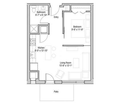 1 Bed - Quarter Row at 202 S Bedford St in Madison WI is a Apartment