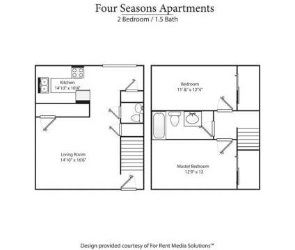 2 Beds - Four Seasons Villas at 500 Savannah St in Greensboro NC is a Apartment