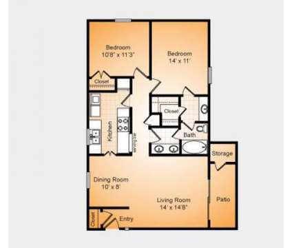 2 Beds - Stonesthrow Apartments at 3501 Farmington Dr in Greensboro NC is a Apartment