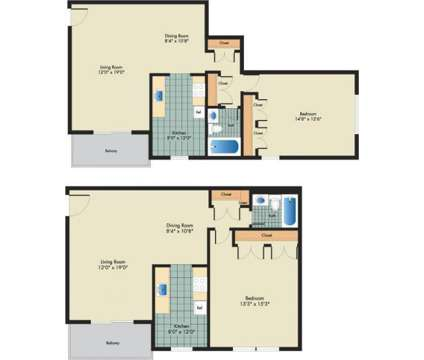 1 Bed - Villas at Langley at 8100 15th Avenue in Hyattsville MD is a Apartment