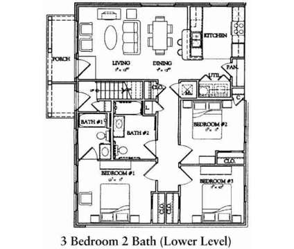3 Beds - Commons at Brentwood at 640 Aspire Ln in Memphis TN is a Apartment