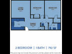 Regency Apartments - Two BR One BA Small