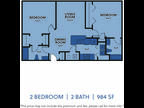 Regency Apartments - Two BR Two BA Medium