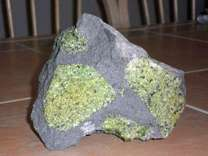 Exceptional and Beautiful Gem Peridot in Balsalt
