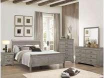 5 Pc Queen Grey Sleigh Bedroom Set