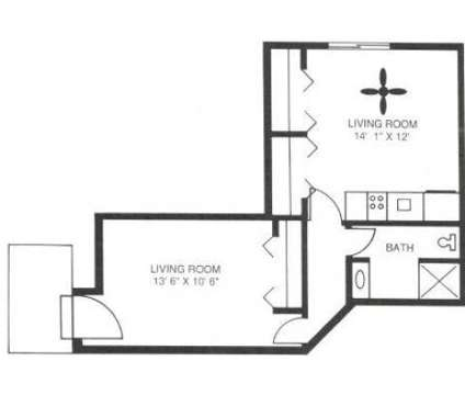 Studio - Courts of the Falling Waters at 7330 Fairmount Ave in Downers Grove IL is a Apartment