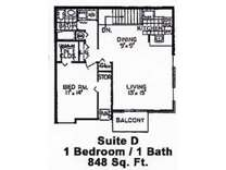 1 Bed - Parkridge Apartments