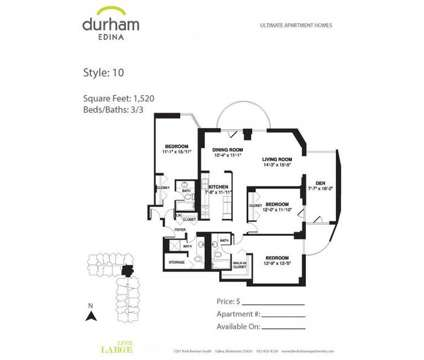 3 Beds - Durham Edina at 7201 York Avenue S in Edina MN is a Apartment