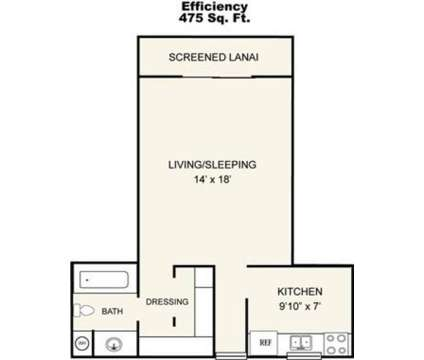Studio - Park Place Apartments at 4637 Deleon St in Fort Myers FL is a Apartment