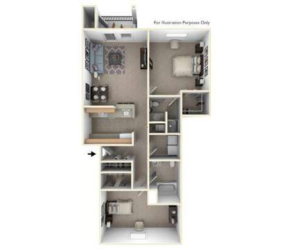 2 Beds - Hunters Pond Apartment Homes at 2717 Hunters Pond Run in Champaign IL is a Apartment